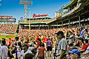 Boston Sox Prints - The Fans Print by Dennis Coates