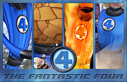 Silver Digital Art Prints - The Fantastic Four Print by Edward Draganski