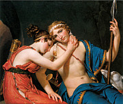 Farewell Paintings - The Farewell of Telemachus and Eucharis by Jacques-Louis David