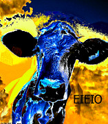 Cow Digital Art Originals - The Farmers Cow by Michael Knight