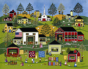 American Primitive Art Prints - The Farmers market Print by Medana Gabbard