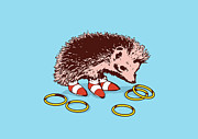 Funny Digital Art Metal Prints - The Fastest Hedgehog Metal Print by Budi Satria Kwan