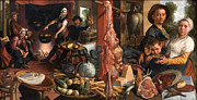 Famous Artists - The Fat Kitchen. An Allegory by Pieter Aertsen