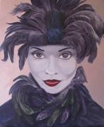 Jester Paintings - The Feathered Lady by Leonard Filgate