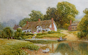 Charming Cottage Painting Posters - The Ferry  Poster by Arthur Claude Strachan