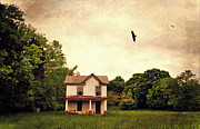 Abandoned Houses Prints - The Field Print by Emily Stauring