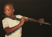 African American Artist Pastels - The Fifer I by Curtis James