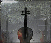 Violin Digital Art Metal Prints - The Figure of Sound Metal Print by Steven  Digman