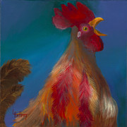 Rooster Art - The Fillet-Buster by Lynn Rattray