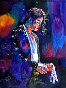 Icon  Metal Prints - The Final Performance - Michael Jackson Metal Print by David Lloyd Glover