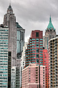Historical Buildings Prints - The Financial District Print by JC Findley