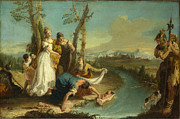 Famous Artists - The Finding of Moses by Francesco Zugno