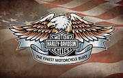 Harley Davidson Posters - The Finest Motorcycle Built Poster by Mark Rogan