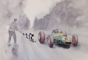 Original Watercolor Paintings - The Finish by Robert Hooper