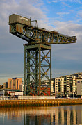 Glasgow Finnieston Crane Framed Prints - The Finnieston Crane Framed Print by Serendipity Bay