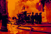 911 Digital Art Prints - The Fire Fighters - 20130207 Print by Wingsdomain Art and Photography