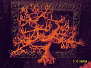 Tree Art Sculpture Posters - The Fire Of Life Poster by Brian Boyer