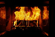 Fire Burns Photo Posters - The Fire Place Poster by Danny Jones