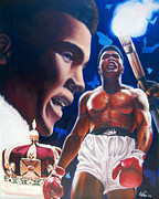 Cassius Clay Paintings - The Fire the Sting the King  by Jerome White