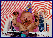 Haist Posters - The First Birthday Cake Poster by Ron Haist