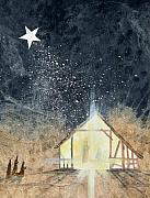 Christmas Star Posters - The First Christmas Poster by Jackie Mueller-Jones