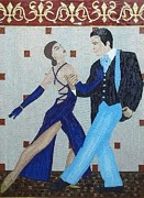 Arte Mosaico Mixed Media Posters - The First Dance Poster by Liza Wheeler
