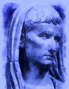 Statue Portrait Digital Art - The first emperor of Rome by Stefania Vignotto