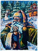 Santa Claus Paintings - The First Gift by Kevin Richard