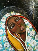 Nuestra Senora De Guadalupe Framed Prints - The First Noel Framed Print by Maya Telford