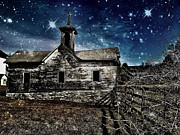 Star Barn Prints - The First Snowfall Print by Kevyn Bashore
