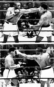 Boxing Ring Framed Prints - The First Sonny Liston Vs. Cassius Clay Framed Print by Everett