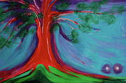 Lovers Pastels Prints - The First Tree by jrr Print by First Star Art