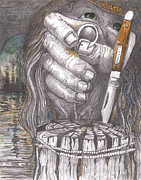 Graphite Pastels - The Fisherman by David Gallagher