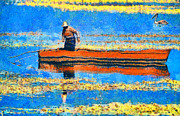 Expressionism Art - The fisherman by George Rossidis