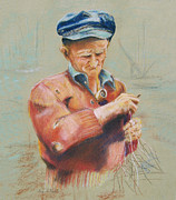 Net Pastels - The Fisherman  by Lisa Pastille
