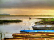 Donegal Posters - The Fishermans Return Poster by Kim Shatwell-Irishphotographer