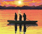The Fishermen Print by SophiaArt Gallery