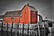 Andrew Crispi Framed Prints - The Fishing Shack Framed Print by Andrew Crispi