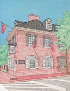 Baltimore Drawings Metal Prints - The Flag House Metal Print by Calvert Koerber