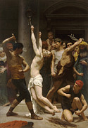 Christ Images Digital Art Prints - The Flagellation of Our Lord Jesus Christ Print by William Bouguereau