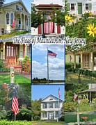 Split Rail Fence Photos - The Flags of Mauricetown  by Nancy Patterson