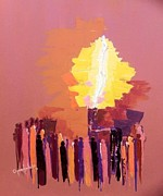 Oyoroko Ken Ochuko Mixed Media - The Flare a beacon of hope and anguish by Oyoroko Ken ochuko