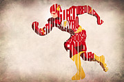 Typographic  Digital Art - The Flash by Ayse T Werner