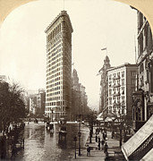 The Continent Posters - The Flatiron Building In NY Poster by Underwood Archives