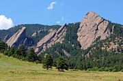 Colorado Scenic Framed Prints - The Flatirons Framed Print by Bob Hislop