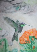 The Flight Of A Hummingbird Print by Rebecca Christine Cardenas