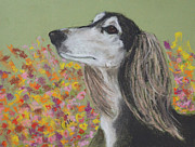 Hound Pastels Framed Prints - The Flower Child Framed Print by Cori Solomon