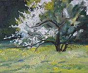 Francois Fournier Paintings - The Flowering Apple Tree no.1 by Francois Fournier