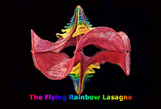 Chakra Rainbow Posters - The Flying Rainbow Lasagne Poster by Nofirstname Aurora