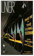 The Posters Prints - The Flying Scotsman Print by Nomad Art And  Design
